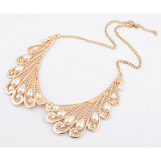 Shining Diva Non Plated White Necklace Set For Women-CFJ6035np