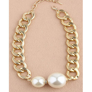 Shining Diva Non Plated White Necklace Set For Women-CFJ6045np