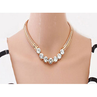 Shining Diva Non Plated Gold Necklace Set For Women-CFJ6088np