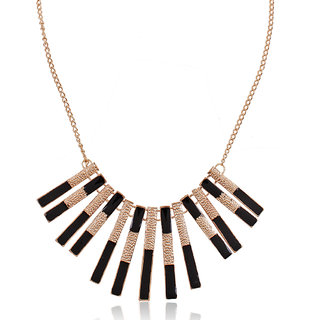 Shining Diva Non Plated Black Necklace Set For Women-CFJ6765np