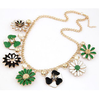 Shining Diva Non Plated Multi Necklace Set For Women-CFJ7129np