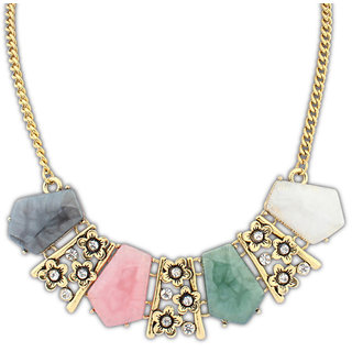 Shining Diva Non Plated Multi Necklace Set For Women-CFJ7303np