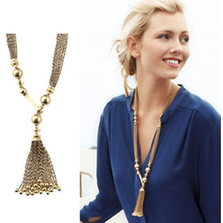 Shining Diva Non Plated Gold Necklace Set For Women-CFJ7328np