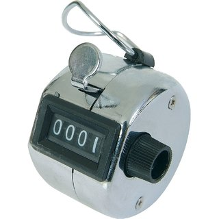 CPEX 4 Digit Manual Tally Counter Hand Held Counter Mechanical Click Counter 1pcs