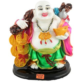 Aica feng shui laughing buddha happy man vastu showpeace-18