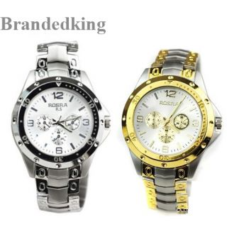 ROSARA COMBO WATCHES  SILVER-GOLDEN  FOR MEN By Sangho