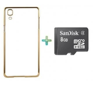 Transparent Back Cover For SAMSUNG G7106 (Transparent  GOLDEN) With 8GB MEMORY CARD