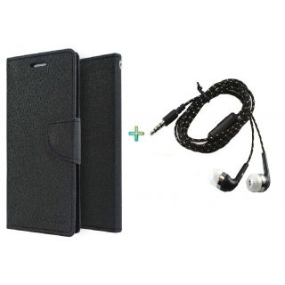 Wallet Cover for NOKIA  630 (BLACK)With TARANG EARPHONE
