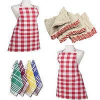 V DECOR Combo Pack Of Kitchen Set 1 Apron, 3 Napkin,  3 Duster