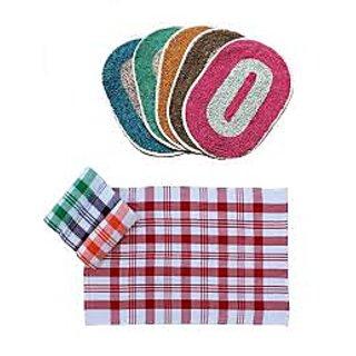 V Decor Set of 3 Door mats and 3 Kitchen Napkins