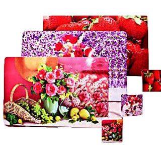 V Decor Attractive 3 Table Mats & 3 Coaster set for Dinning Table