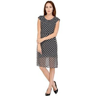 92b1f4af54011 59%off Westchich Black with White Polika Dot SHELLEY Dress