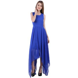 Westchic Royal Blue Asymmetric THYME Dress