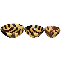 Wooden Bowl Set & Free 3 Tea Spoons New Arrival