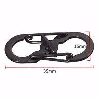 2pcs Ring Buckle Lock Carabiner Locking Hook Clip Hiking Camping Climbing Keychain On Car