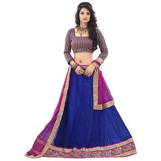Manvaa BLUE Colour NET lehenga