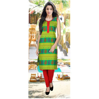 Multicolor Block Print Cotton Stitched Kurti