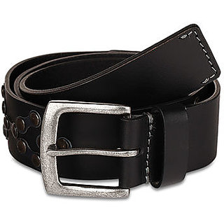 Pardigm Men's Black Leather Belt (Black)
