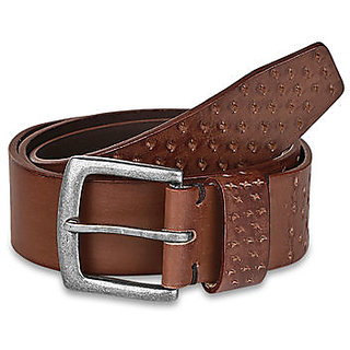 Pardigm Men Brown Leather Belt