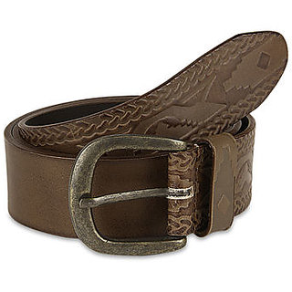 Pardigm Men's Brown Leather Belt