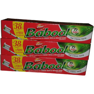 Babool Toothpaste Comb Offer – Buy 3 Dabur Babool Toothpaste for Rs. 39