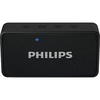 Philips BT64B/94 Portable Bluetooth Mobile/Tablet Speaker (Black, 1 Channel) - 1 Years Philips Warranty
