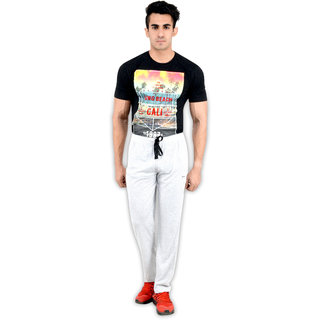 Okane White Sports Pants For Men