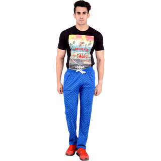 Okane Blue Sports Pants For Men