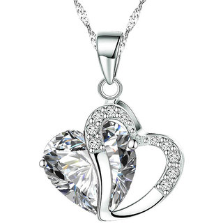 Shining Diva Non Plated Silver PendantChains For Women-CFJ7905np
