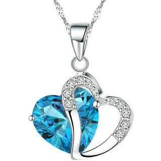 Shining Diva Non Plated Blue PendantChains For Women-CFJ7907np