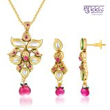 Sukkhi Kundan Gold Plated Luxurious Pendant Set