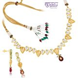 Sukkhi Kundan Gold Plated Fine Design Necklace Set