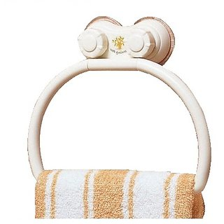 Towel Hanger (Plastic)- Dual Suction Mechanism