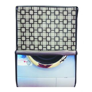 Glassiano Printed Waterproof  Dustproof Washing Machine Cover For Front Loading IFB Senorita Plus VX - 6.5 Kg, Washing Machine