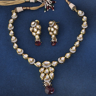 Swarajshop Ideal Silver & Golden Color Necklace