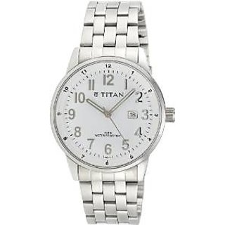 Titan Tycoon Analog White Dial Mens Watch - NE9441SM02J