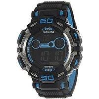 Sonata Ocean Series II Digital Black Dial Mens Watch - 77009PP02J