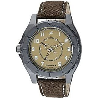 Fastrack OTS Explorer Analog Beige Dial Mens Watch - 9462AL02