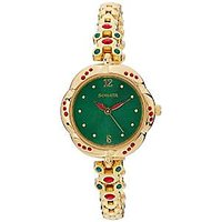 Sonata Analog Green Dial womens Watch - 8121YM01