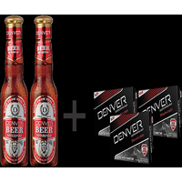 Combo of Denver Beer Shampoo 200 Ml (Pack of 2) and 3 Denver Black Code Soap