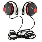 Red Sony MDR-Q140 Headphones Black