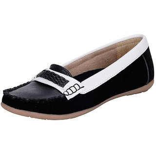 Mappy White Black WomenS Loafers