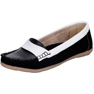 Mappy White Black WomenS Loafers ]