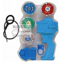 4 Beyblade Set with Handle Launcher Metal Fighters Fury Battle Blade 4D System