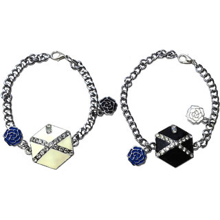 Combo of 2 Shining Multiolor Stainless Steel Bracelet - 730.2