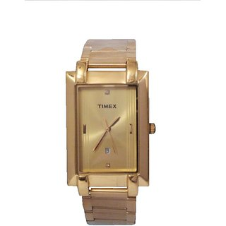 Timex Plain 3 hands Analog Gold Dial Mens Watch - TW0TG481H