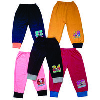 Om Shree Multicolour Kids Cotton Track Pant With Rip (Set Of 5)