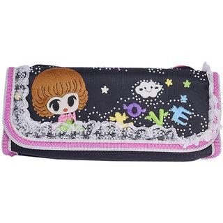 Saamarth Impex Trendy Lace Cartoon Black Pen Pencil Pouch Travel Kit SI-892