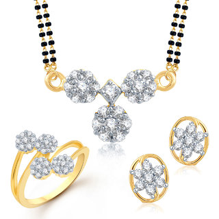 Meenaz Mangalsutra Jewellery Set bo Gold Plated For Women.