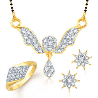 Meenaz Mangalsutra Jewellery Set bo Gold Plated For Women  - Com1078